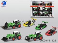 Mini Alloy Farmer car, Metal Car Toys, Pull-back Car Kart Car