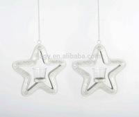 Christmas hanging star metal candleholder