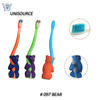 Bear handle standing up mini kid toothbrush