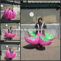 2014 inflable traje de rendimiento, inflable traje de flores