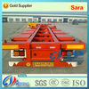 China factory supplier 40ft flatbed shipping container truck chassis