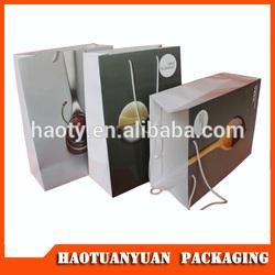 2014 paper bag, paper shopping bag raw materials of paper bag