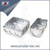 Metal EMT Conduit Galvanized Rectangular Box