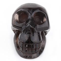 100% Natural Artistic Black Obsidian Skull/Charming Clear Natural Obsidian Rock Stone Carved Skull