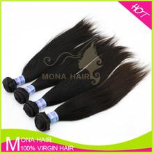 Unprocessed 100% top grade wholesale short hair Brazilian weave