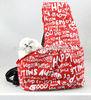 Reversible sling canvas pet bag carrier