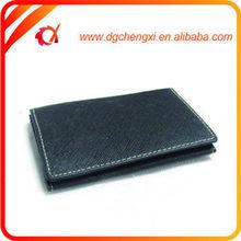 black pu leather name card case