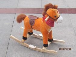 rocking toy horse/plush rocking toy horse with flash light/plastic horses