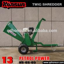 High quality Honda motor CE approved Kohler gas engine trailer hydraulic log shredder machine with petrol engine