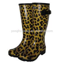 Rubber stylish female work boots