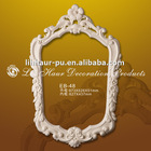 Hand Carved PU Antique Mirror Frames,Picture Frame With Bevelled Mirror Edge