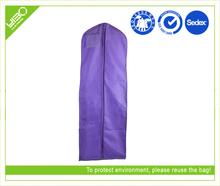 Customized logo dustproof waterproof oxford purple wedding dress garment bag