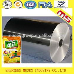 Big roll raw material for aluminium foil bag package
