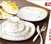20pcs square fine royal porcelain luminarc dinner set