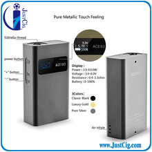 2014 factory original big watts 50W Variable voltage ACE 50 box mod vaporizer from JustCig