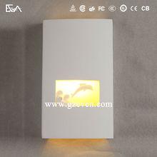 New modern home decor fancy indoor LED plaster gypsum wall lights