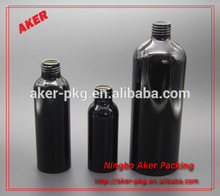 Empty Black Aluminum Bottle Wholesale Water Bottle Travel Bottle