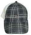 malla de tela escocesa sombrero de camionero sombrero del invierno