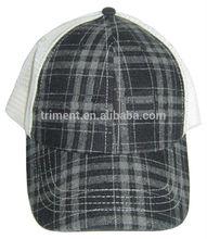 plaid mesh trucker hat winter hat