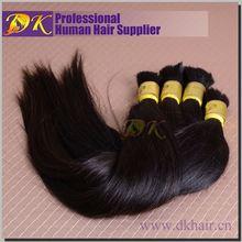 Guangzhou DK 2014 New arrival brazilian bulk hair individual braids with human hair