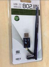 Mini 150M USB WiFi Wireless LAN Network Card Adapter 802.11 n/g/b Gain 5dBi Antenna with wps button