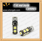 New product 2014 new hottest sale T10 9SMD 5050 12V 24V super canbus Car W5W T10 led