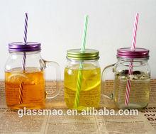 mason jar drinking glass with handle