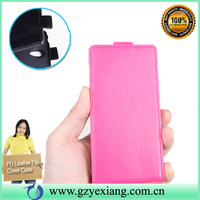 Slim leather flip protective case cover for huawei p6