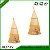 Homey orange mesh hanging toy storage bag for kids