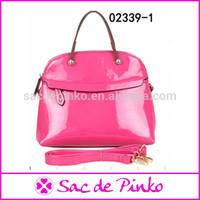 2014 beautiful shiny leather bag summer lady handbag