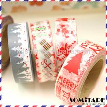 Hot sales 2014,christmas decorative tape/DIY/christmas card/scrapbooking/masking tape paper tape