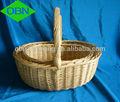 Vime cesta de frutas de presente cesta de vime cesta de casamento decoração