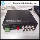 1/4/8 channels cctv optical fiber transmitter and receiver