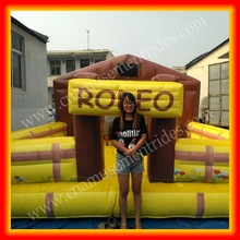 Mechanical cow inflatable bull riding machine