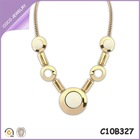 alibaba new trendy round charm necklace gold plated gold opal jewelry