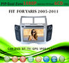 2 din car dvd player tv antenna fit for Toyota Yaris 2005 - 2011 with radio bluetooth gps tv pip dual zone
