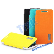 ROCK Elegant Series Toothpick Grain Pattern Leather and Hard PC Back Cover Case for HTC One Mini M4 (Blue)