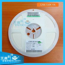 all kinds of resistors 1206-510k-5% smd resistor