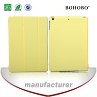 High quality flip pu leather+tablet pc back case for ipad air5
