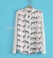 z52477a alibaba novo estilo de moda das mulheres animal impresso blusa