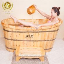 Solid cedar wooden tub, wood soaking tub