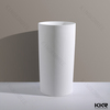 Whtie Matte and Glossy freestanding cast stone column Basin