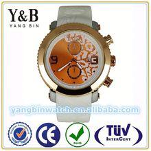 Quality fashion item quartz silicone rubber wristband watch