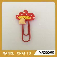 2014 fashion 3D soft pvc bookmarks / mushroom shape
