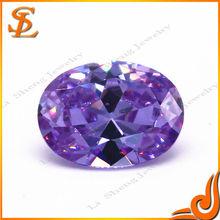 Factory wholesale artificial loose lavender oval diamonds (CZ)