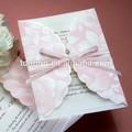 impreso laminación de la boda elegante hecho a mano la tarjeta de invitación