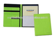 Fashion design leather business bag a4 leather portfolio