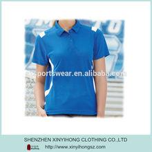 Golf performance short sleeve polo shirt for women