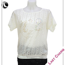 Hot selling OEM women blouse fashion women model blouse for uniform