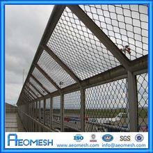 Razor Wire High Securtiy Fence / Galvanized Diamond Shape Fence / Hot Dipped Galvanized Diamond Round Post